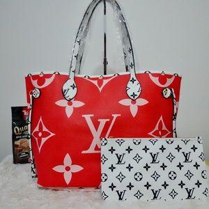 Louis Vuitton 13 x 12 x 7 giant red